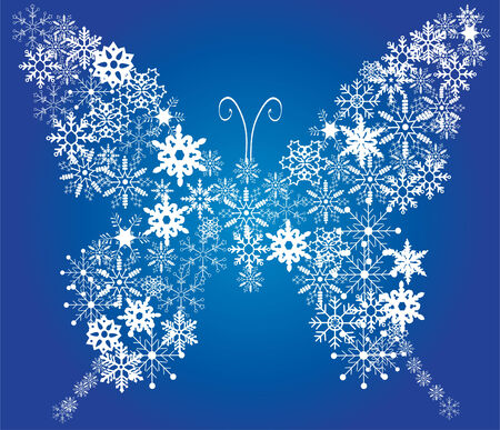 butterfly background: snow butterfly