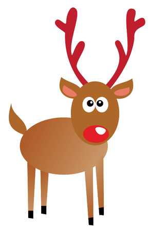 funny rudolf isolated on white background Vector