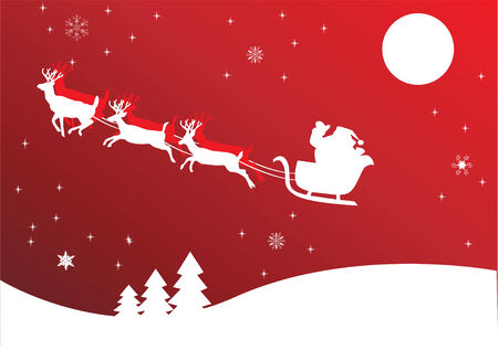 holiday background with santa Stock Vector - 8266160