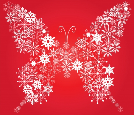 tekening vlinder: sneeuw butterfliy