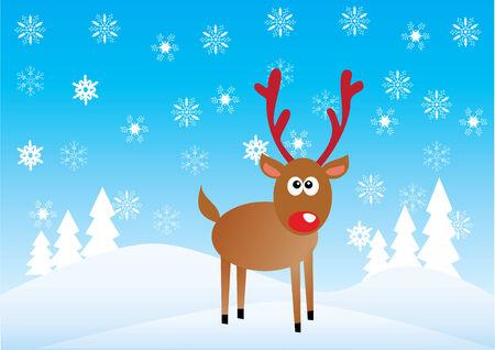 rudolf: christmas background with rudolf