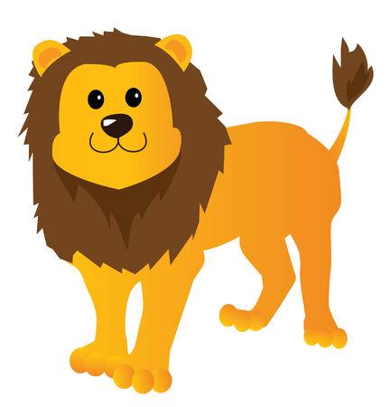 Caricature lion Banque d'images - 8393312