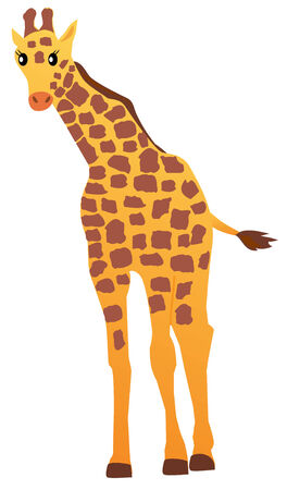 cartoon giraffe Banco de Imagens - 8393306