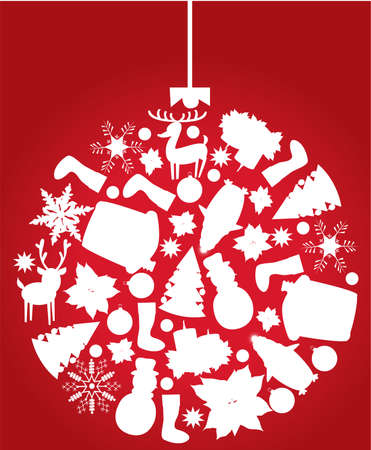 christmas tree ball made of x-mas elements