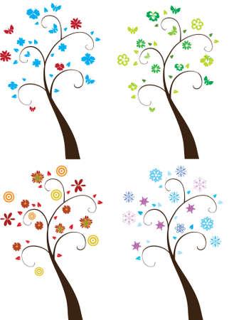 season trees Stock Vector - 8393320