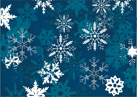 blue snowflake background Stock Vector - 8435922