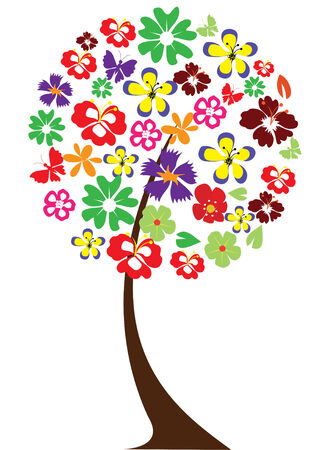 abstract flowers: floral tree