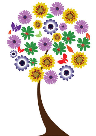 floral tree Stock Vector - 8497476