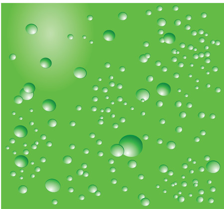 groen water bellen achtergrond