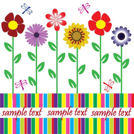 card with flowers and space for your text Stock Vector - 8750216