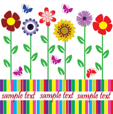 vector floral card with space for your text Stock Vector - 8891978