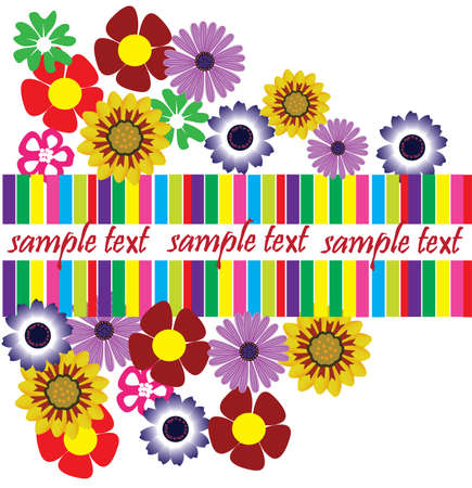 vector floral card with space for your text Stock Vector - 8891983