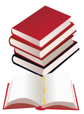 vector boeken met één boek openen