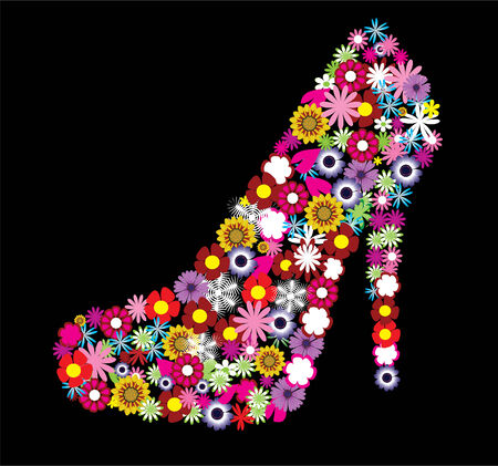 floral female shoe