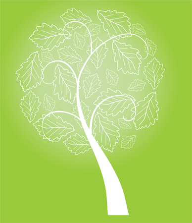 vector abstract tree with leaves Vector