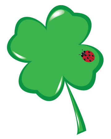 vector shamrock with ladybug Vector