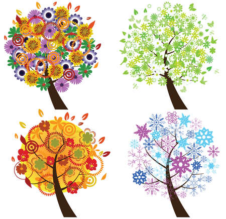 season trees Stock Vector - 9052760