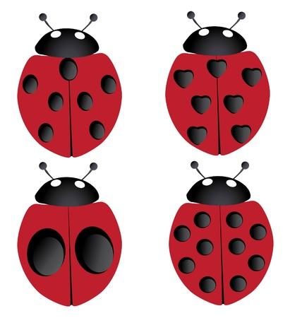 four ladybugs Ilustracja