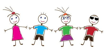 dance school: vector funny people Illustration