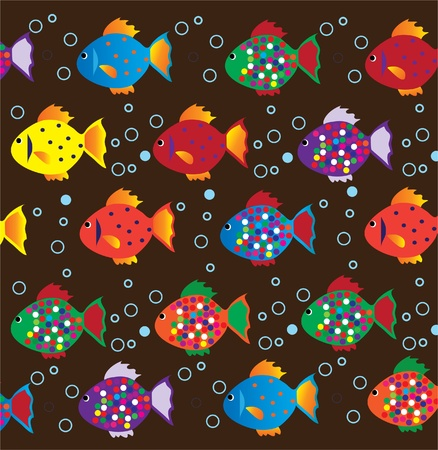 underwater fishes: vector fish background