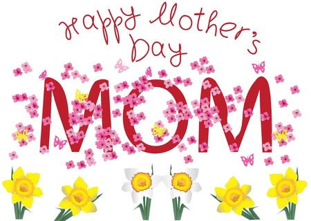 card for mother Vector