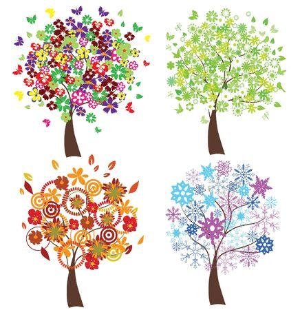season trees Stock Vector - 9244370