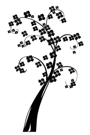 추상 꽃 나무