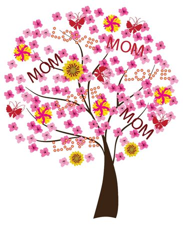 tree for mother Stock Vector - 9366587