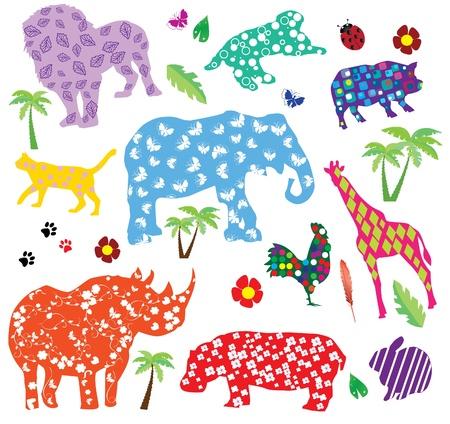 Animales con patrones Foto de archivo - 9366578