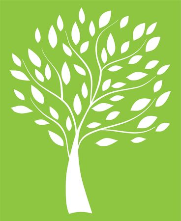 abstract tree with leaves Vector