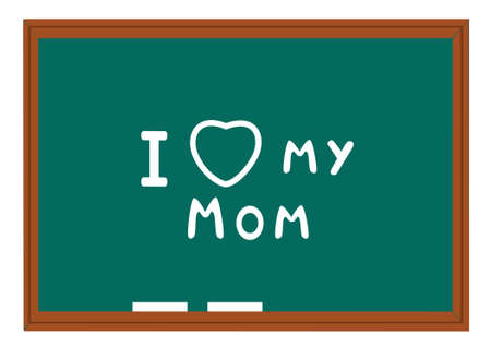 vector blackboard with text for mothers day Vector