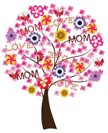 vector floral tree for mother's day Stock Vector - 9441788