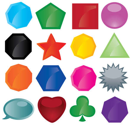 different button icons Vector