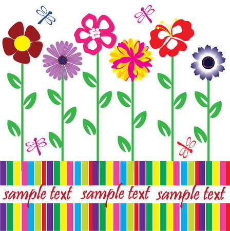 vector card with flowers and space for your text Stock Vector - 9692250