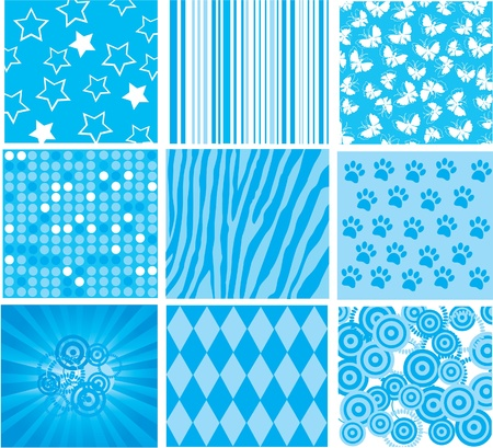 blue patterns Stock Vector - 9580033