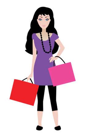 hot woman: shopping girl