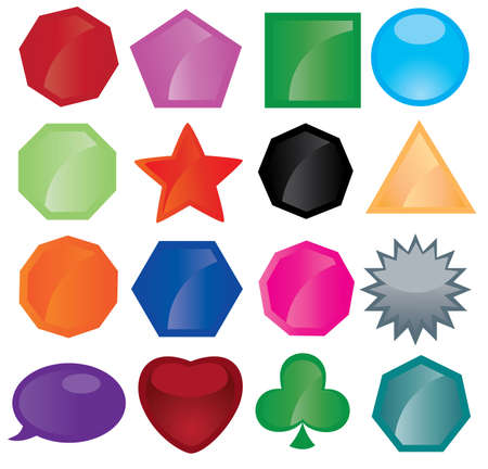 set of different button icons Stock Vector - 9579725