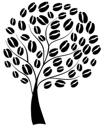 コーヒー豆とコーヒーの木