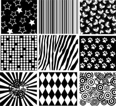 black patterns Illustration