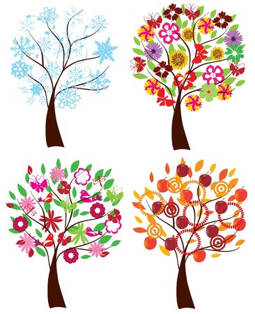 Vektor-Saison Bäume Standard-Bild - 9637246
