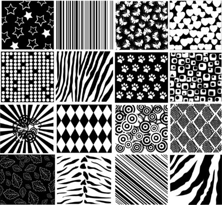 vector black and white patterns