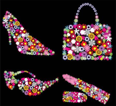 vector floral accessories Stock Vector - 9637265