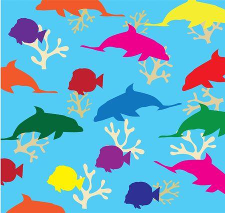 vector fish background Stock Vector - 9637238