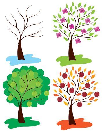 apple trees Stock Vector - 9732974