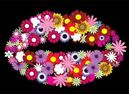 floral lips
