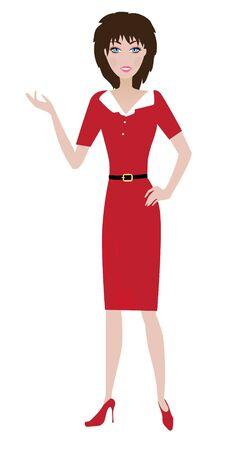 vector woman presenting