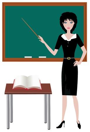 vector de maestro en el aula Ilustración de vector