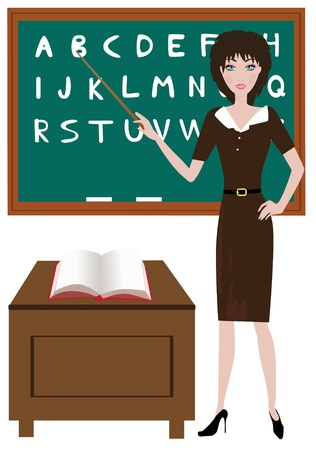 teacher in the classroom Stock Vector - 10018390