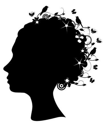 floral head Vector