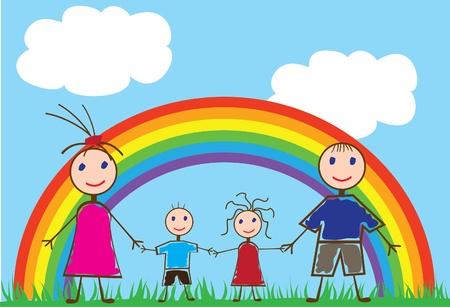 leuke mensen en regenboog